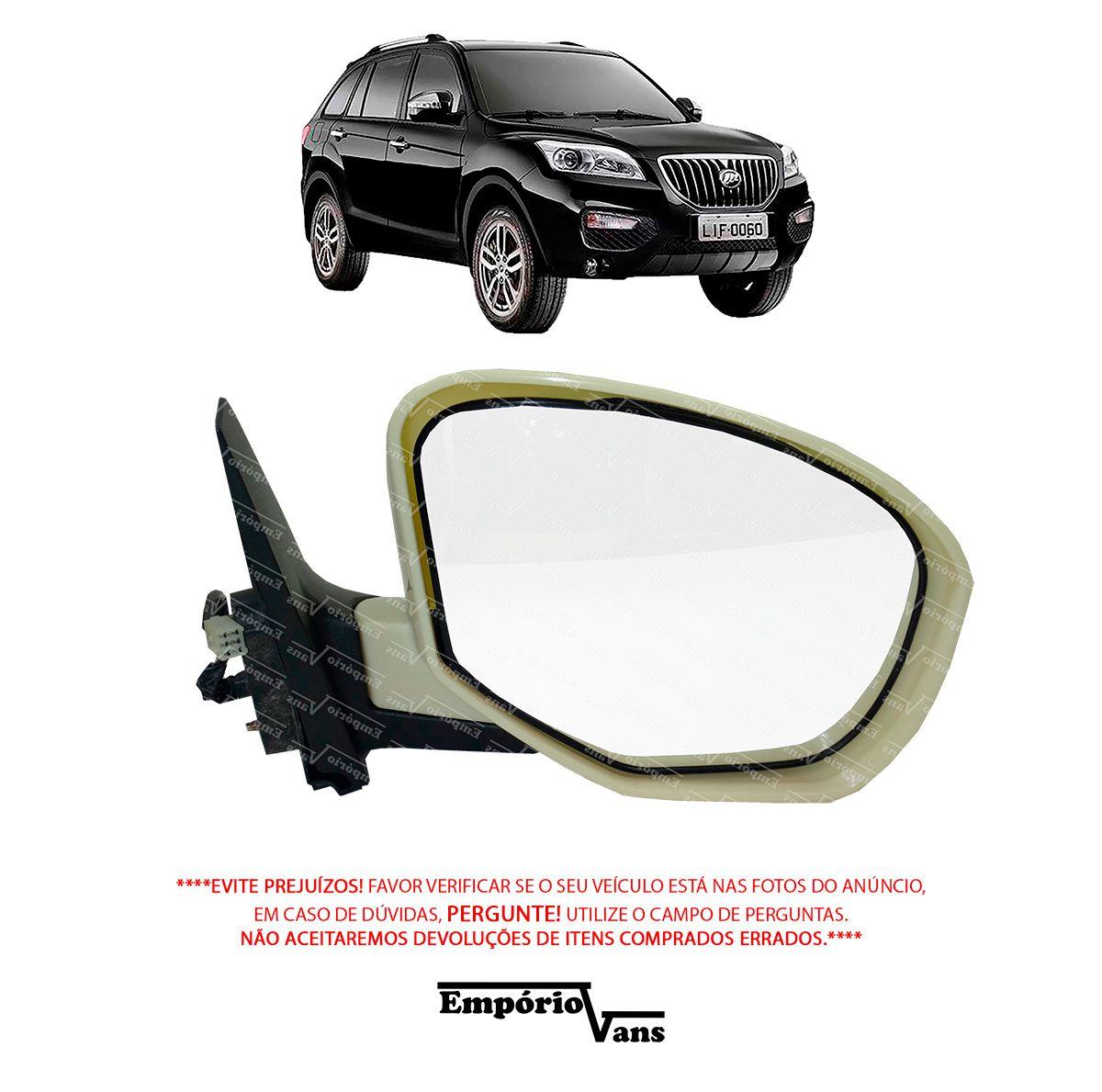 Espelho Retrovisor Eletrico Lado Direito Lifan X60