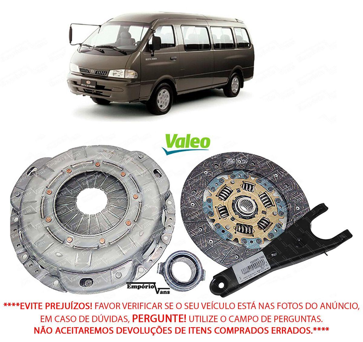 Kit Embreagem C/ Rolamento Disco Plato Garfo Besta Gs 2.7 3.0  Valeo