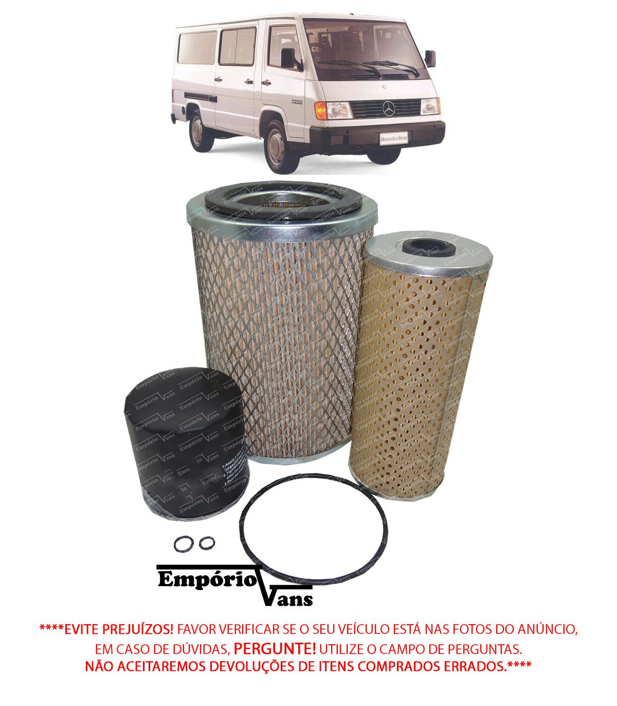 Kit Filtro Ar Combustivel Oleo Mercedes MB-180