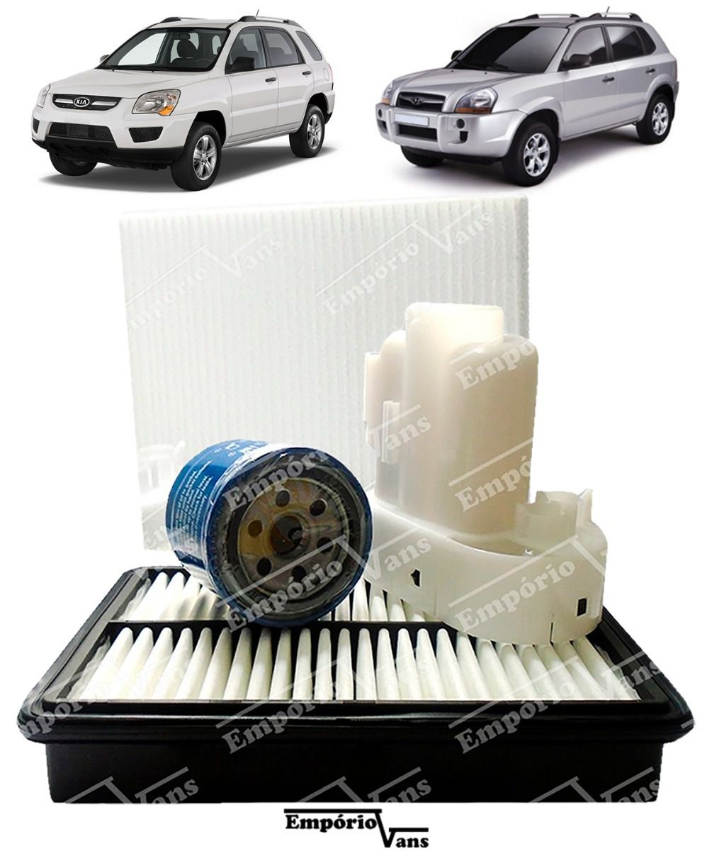 Kit Filtro Ar Oleo Combustivel Cabin Tucson Sportage 2.0 2.7