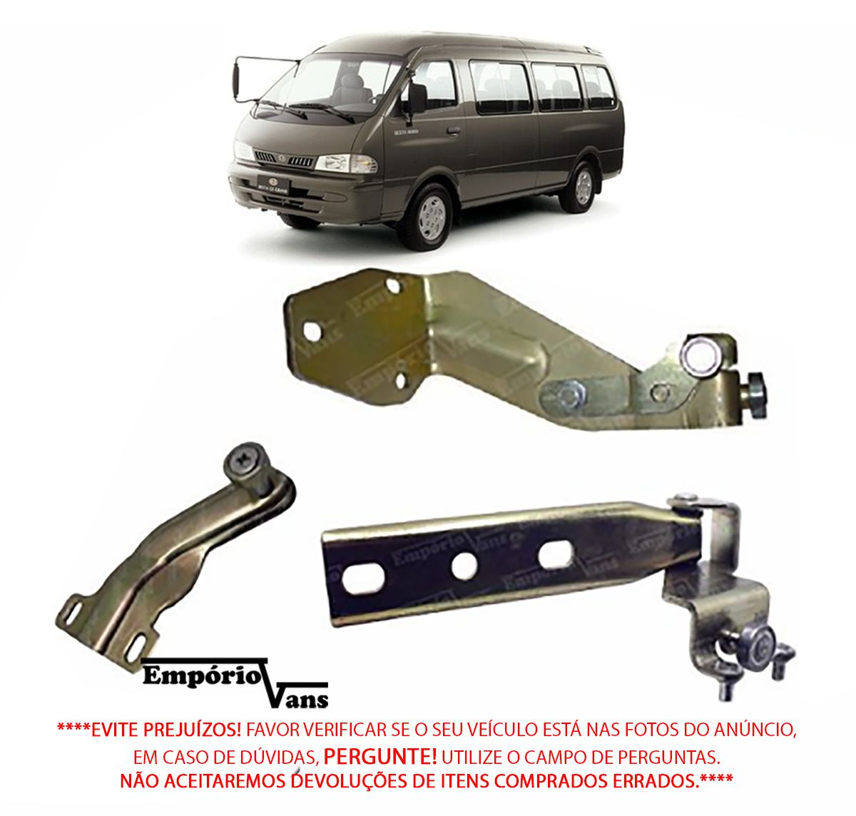 Kit Guia Porta Correr Central Infer Sup Kia Besta Gs 2.7 3.0