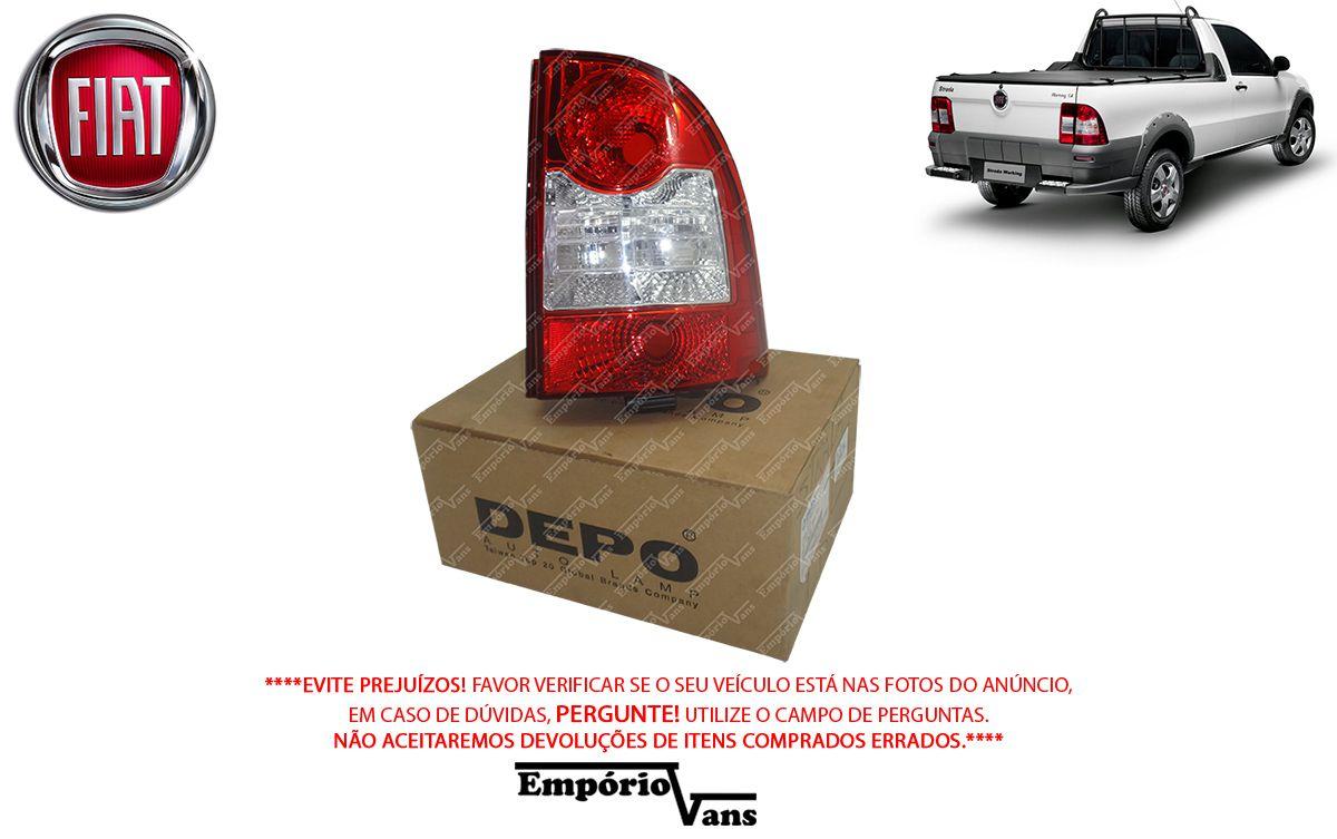 Lanterna Traseira LD Bicolor Original Depo Fiat Strada 09/13