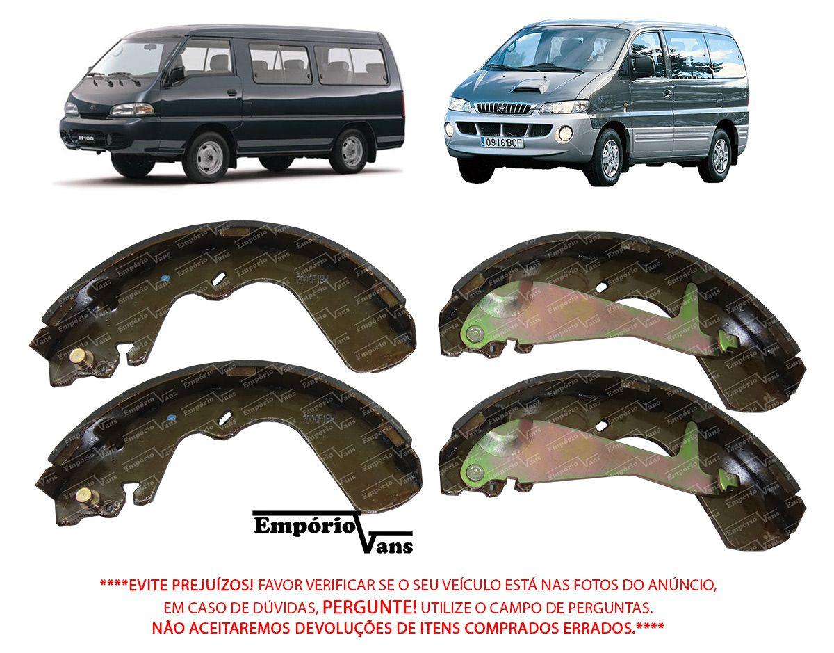 Sapata Freio Traseira Com Haste Hyundai H1 H100 2000 Em Diante