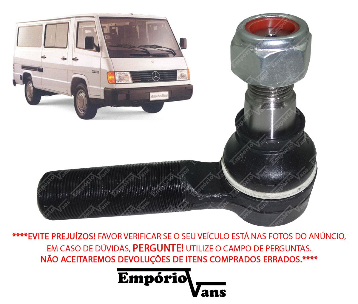 Terminal Direçao 24 MM Intermediaria Mercedes MB-180