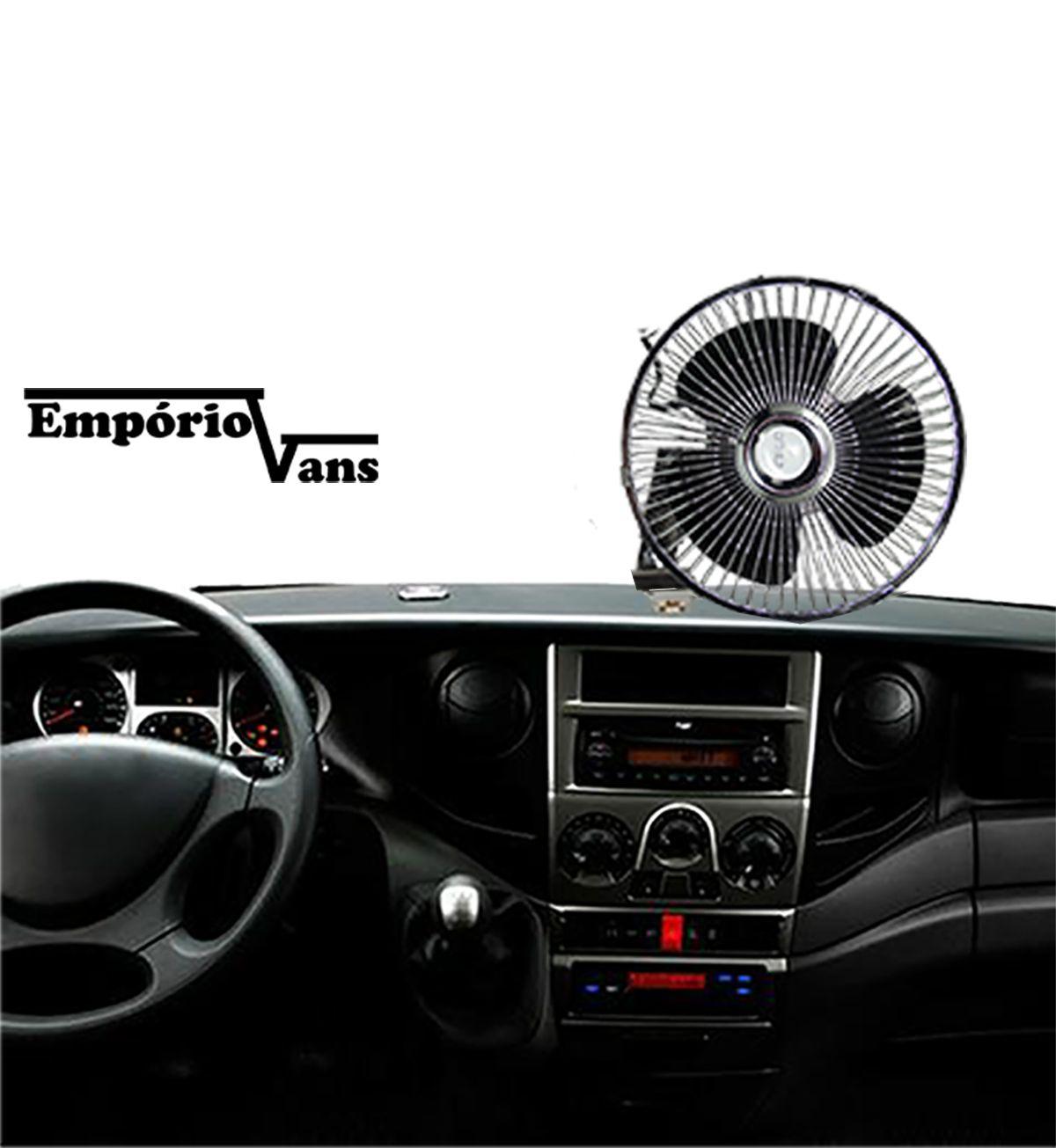 Ventilador Automotivo 12V 20Cm Veiculos Diversos