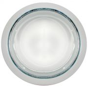 Refletor De Embutir 19cm Com Vidro Fosco E-27 2 Lamp. Max 60w Branco