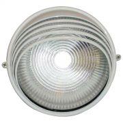 Tartaruga Circular 18cm Aluminio Pint. Epoxi E-27 1 Lamp. Max 60w Meia Cana Branca