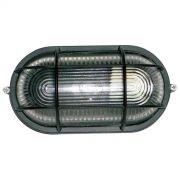 Tartaruga Oval 23cm Aluminio Pint. Epoxi E-27 1 Lamp. Max 60w C/ Grade Preta