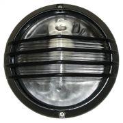 Tartaruga Piramide Circular 19cm Aluminio Pint. Epoxi E-27 1 Lamp. Max 60w Preta