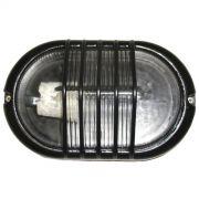 Tartaruga Piramide Oval 21cm Aluminio Pint. Epoxi E-27 1 Lamp. Max 60w Preta
