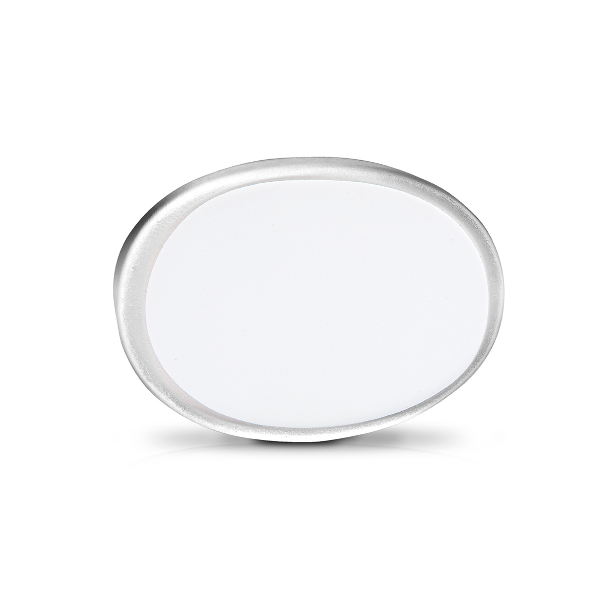 Abajur Brent 32cm Base Ceramica Branca E-27 Max 40w Cupula Tecido Branco