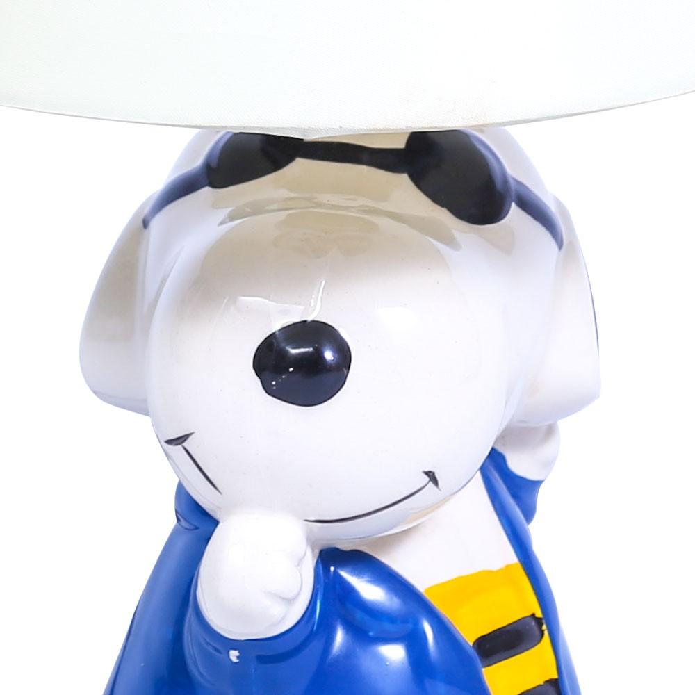 Abajur Infantil Cachorro 31cm Base Cerâmica E-27 Max 40w