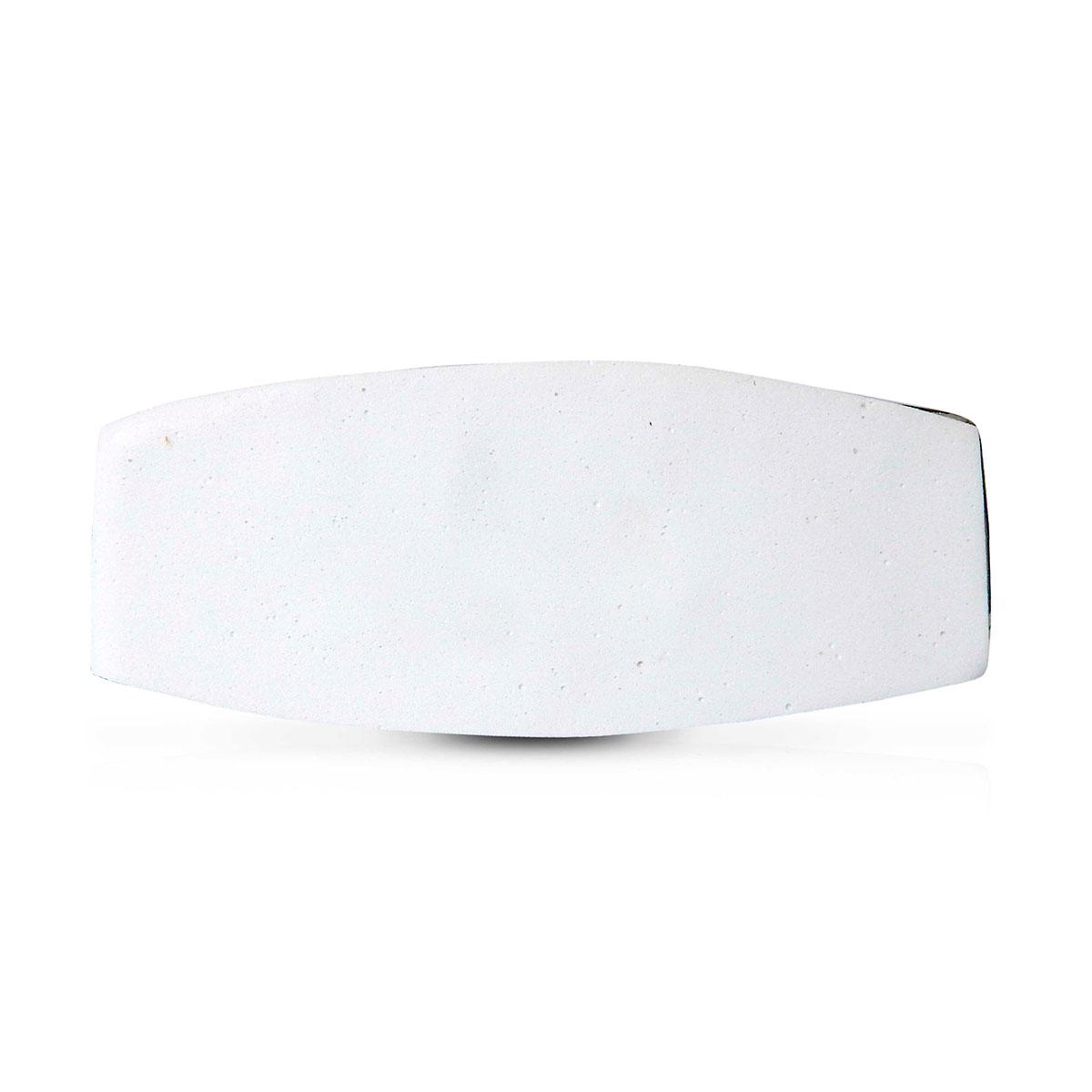 Abajur Oka 51cm Base Ceramica Cromada E-27 Max 40w Cupula Tecido Cromado