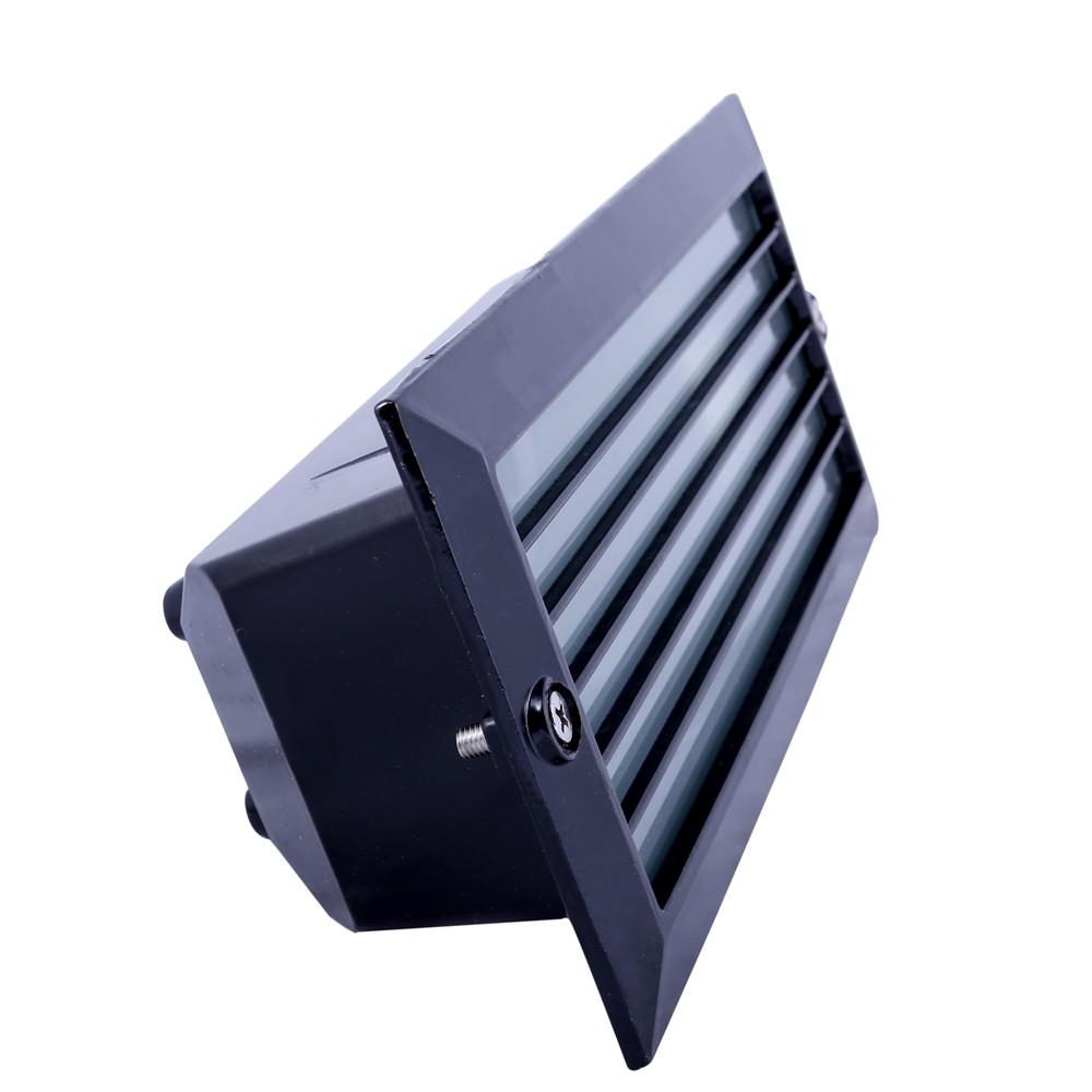 Arand. / Balizador Ret. 23cm Alumínio Pint.Epoxi E-27 1 Lamp. Max 60w C/ Grade Preta