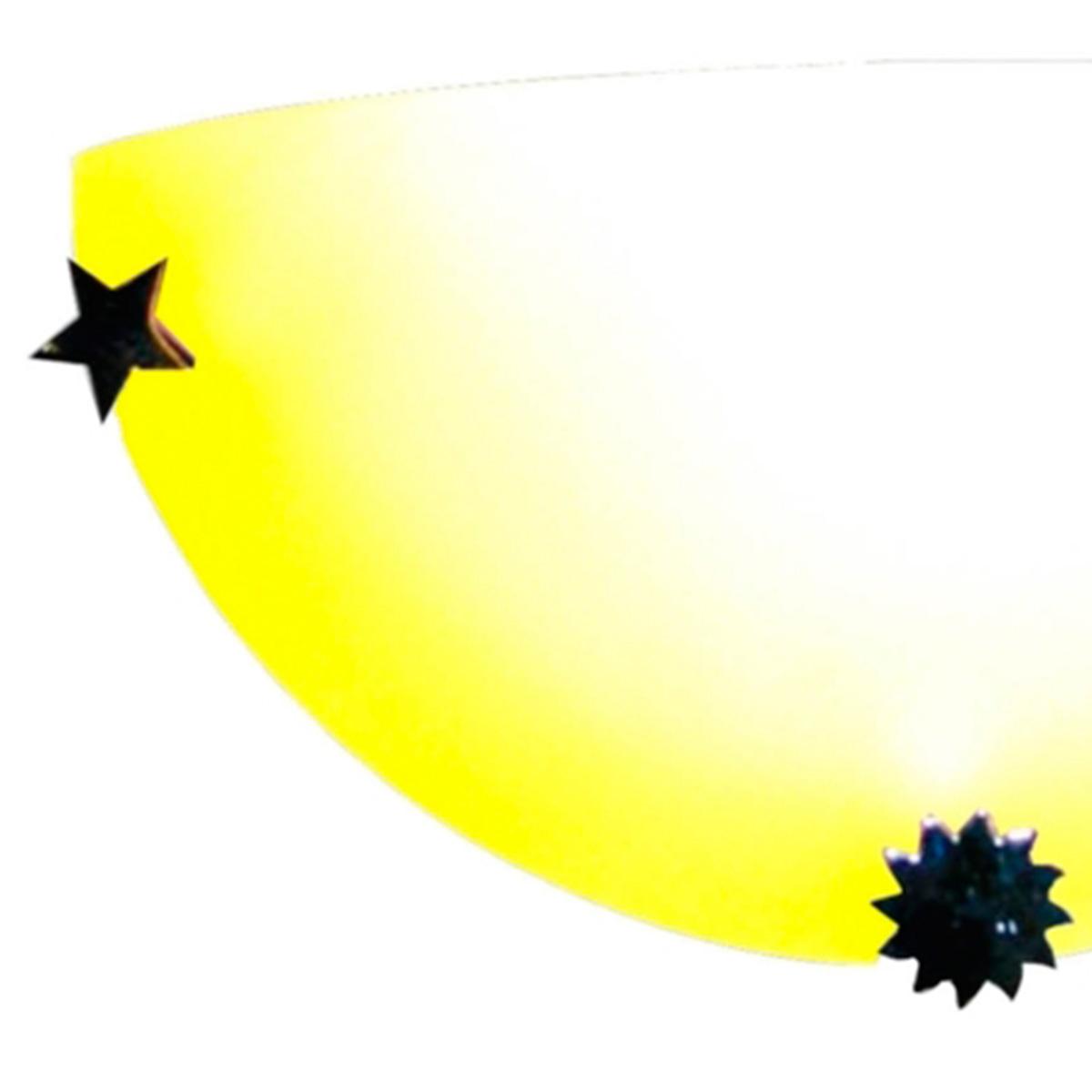 Arandela Colors 30cm 1 Lampada E-27 Max 60w Vidro Amarelo 05 Unidades