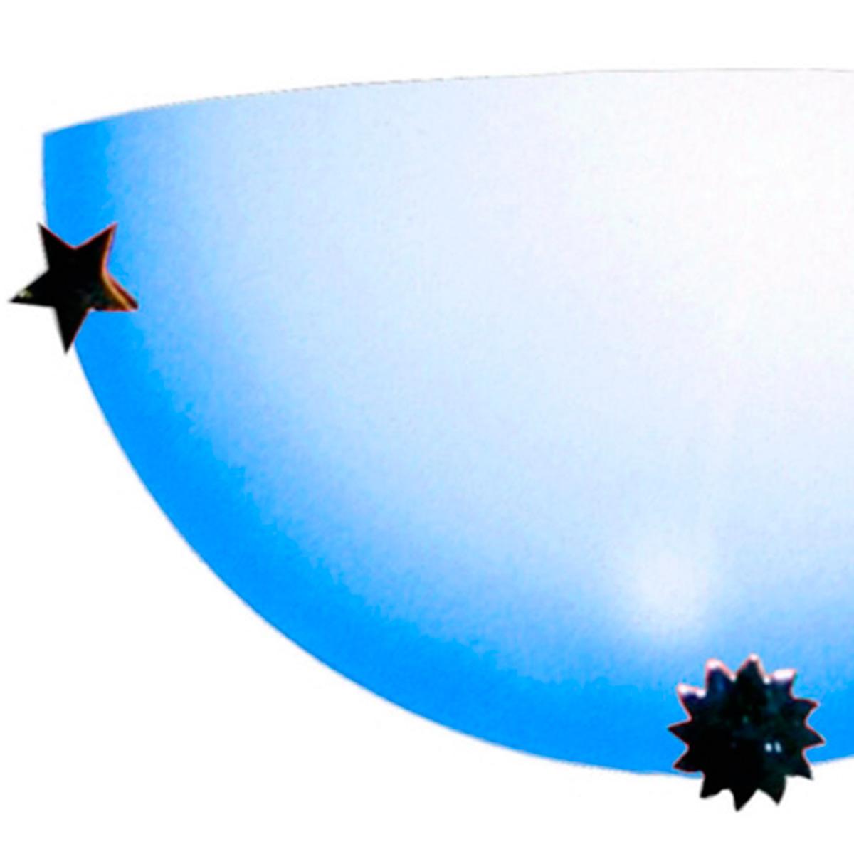 Arandela Colors 30cm 1 Lampada E-27 Max 60w Vidro Azul 05 Unidades