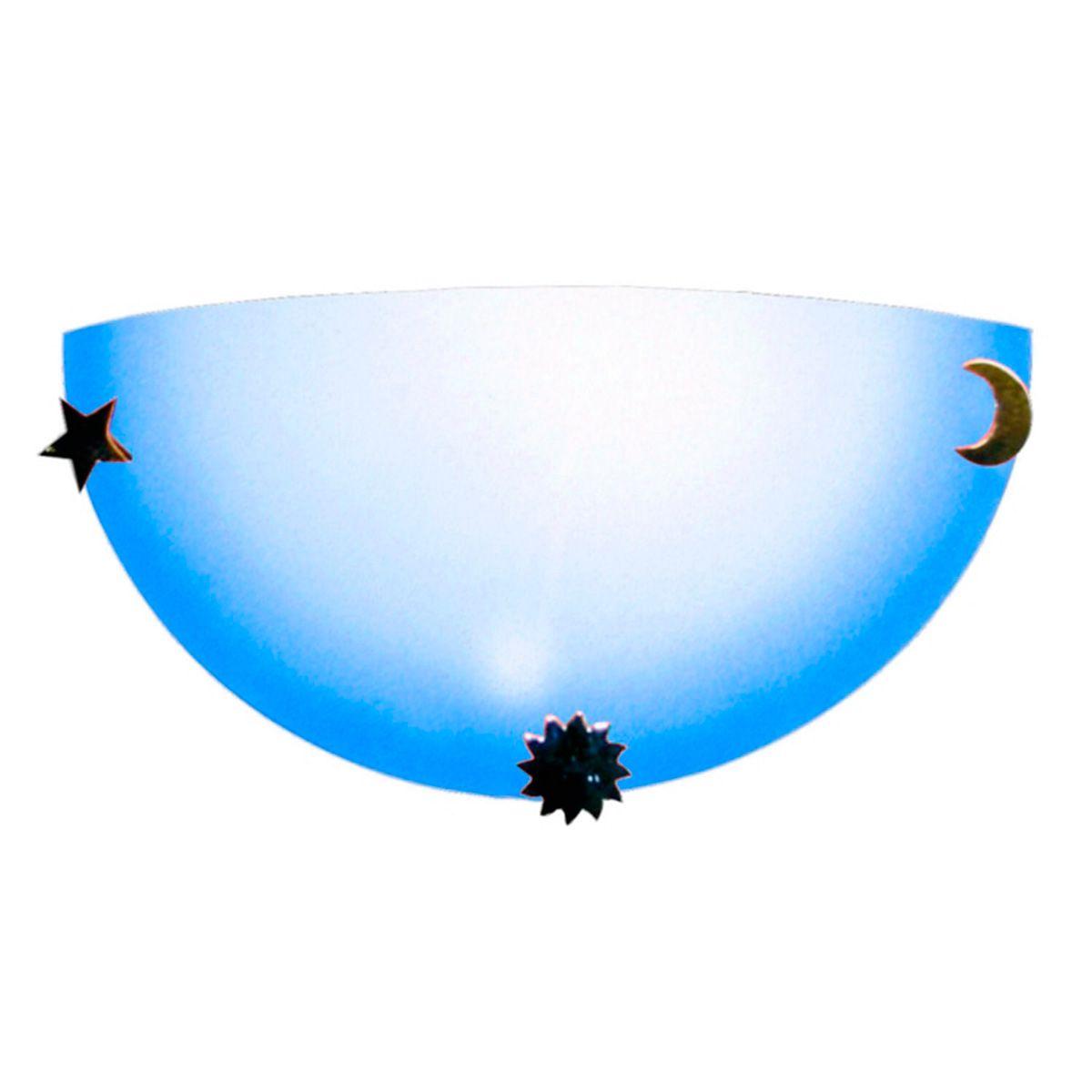 Arandela Colors 30cm 1 Lampada E-27 Max 60w Vidro Azul 10 Unidades