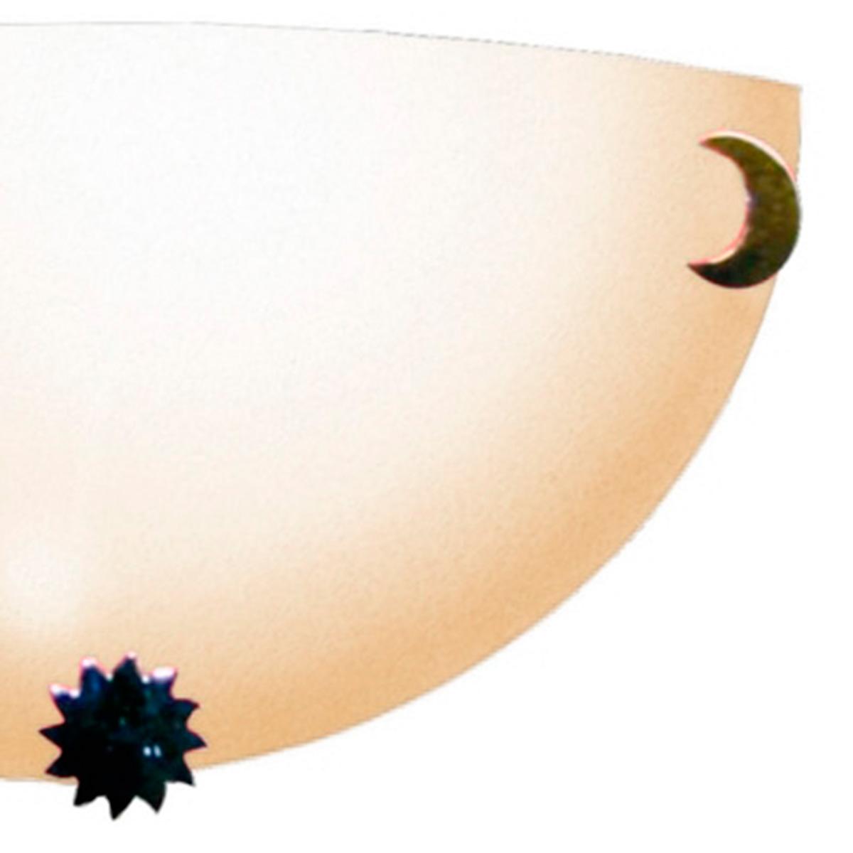 Arandela Colors 30cm 1 Lampada E-27 Max 60w Vidro Cafe