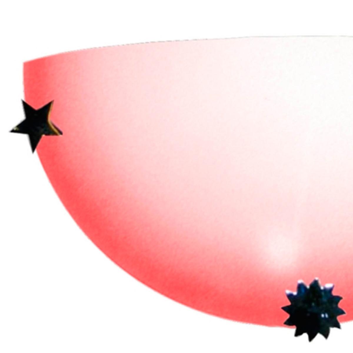 Arandela Colors 30cm 1 Lampada E-27 Max 60w Vidro Rosa 05 Unidades