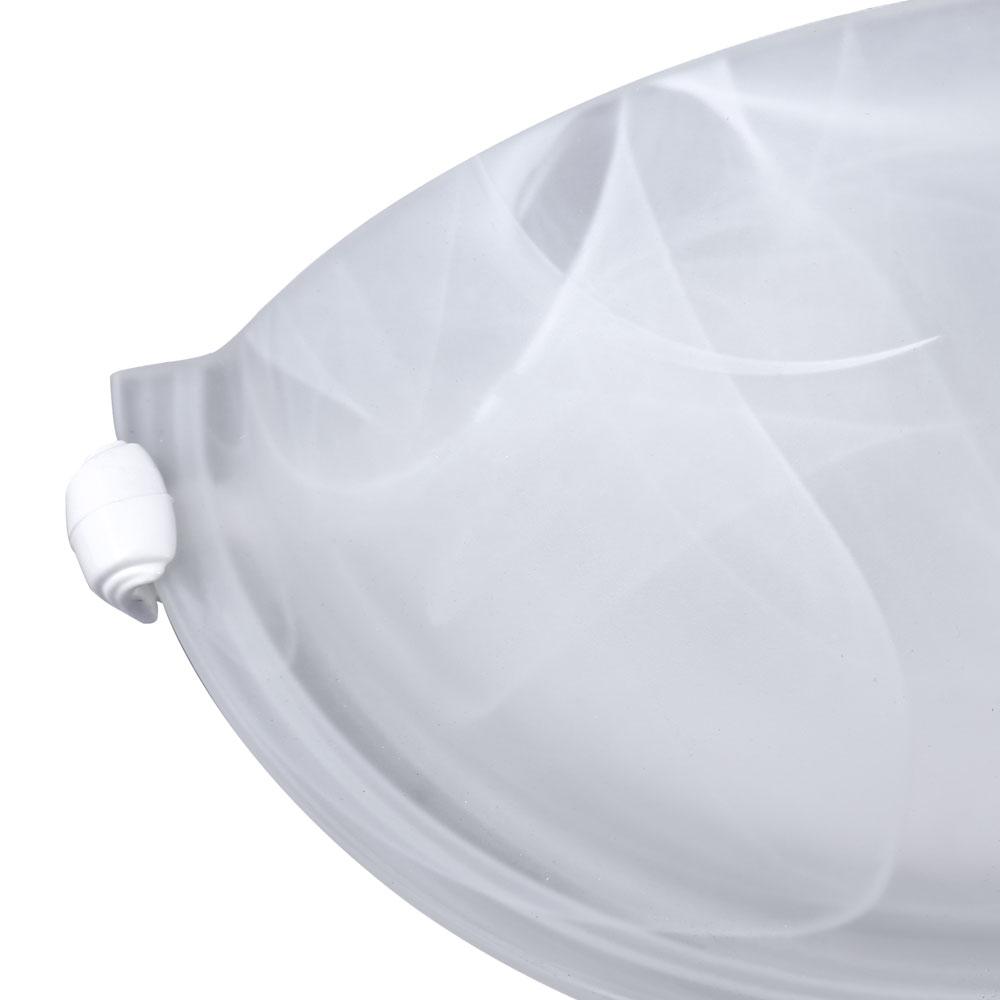 Arandela Murano Vidro 25cm 1 Lamp. E-27 Max 60w Branco Garra Branca