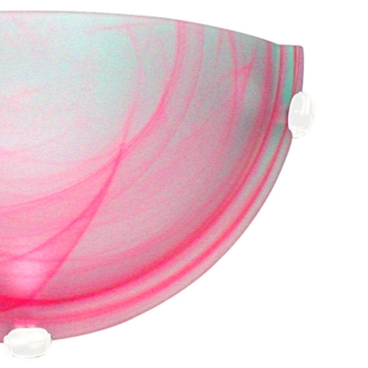 Arandela Murano Vidro 25cm 1 Lampada E-27 Max 60w Rosa Garra Branca 10 Unidades