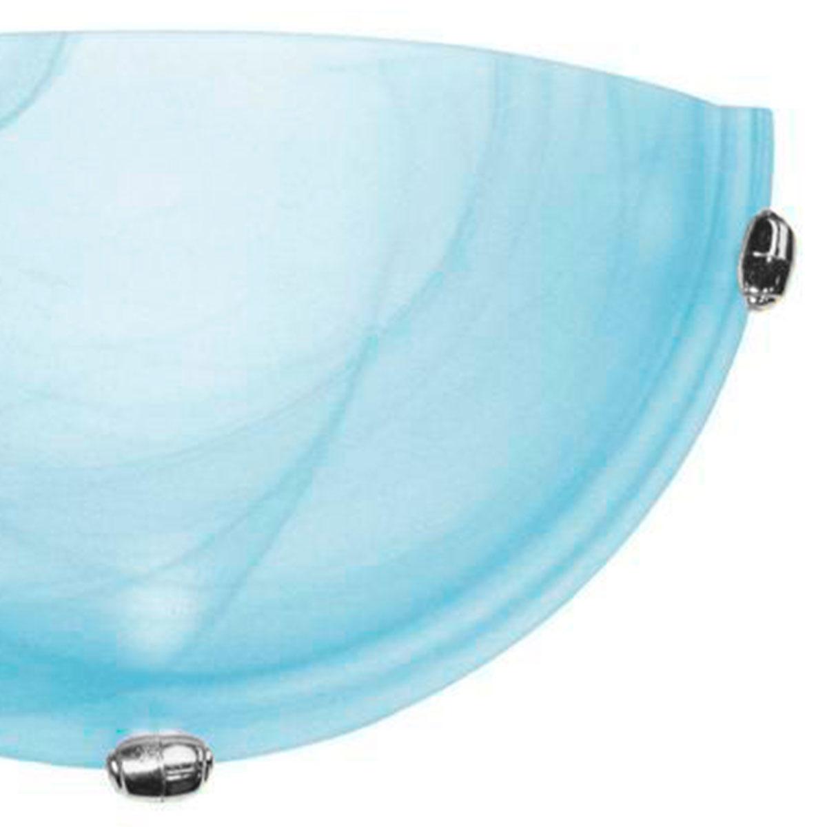 Arandela Murano Vidro 30cm 1 Lampada E-27 Max 60w Azul Garra Cromada 05 Unidades