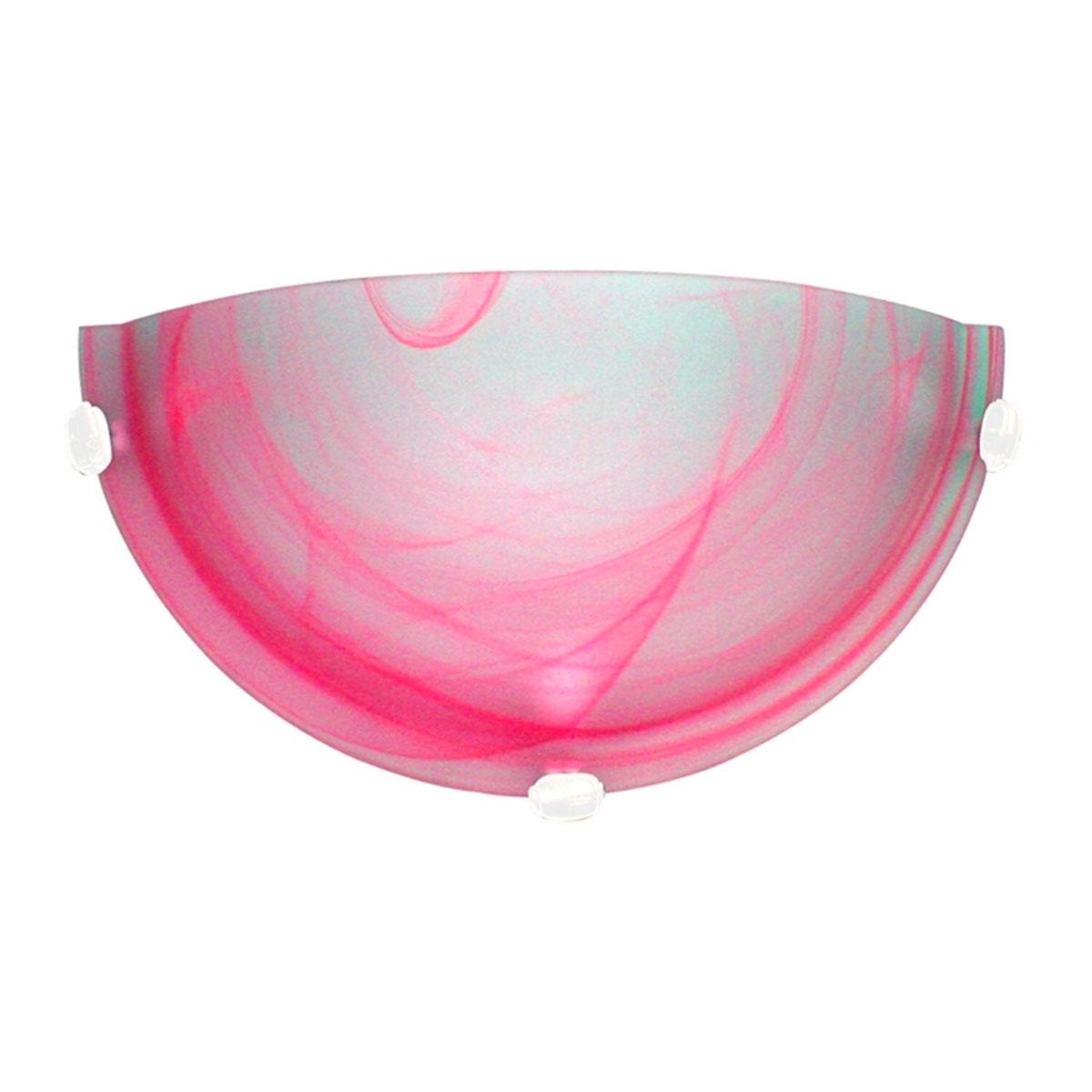 Arandela Murano Vidro 30cm 1 Lampada E-27 Max 60w Rosa Garra Branca 05 Unidades