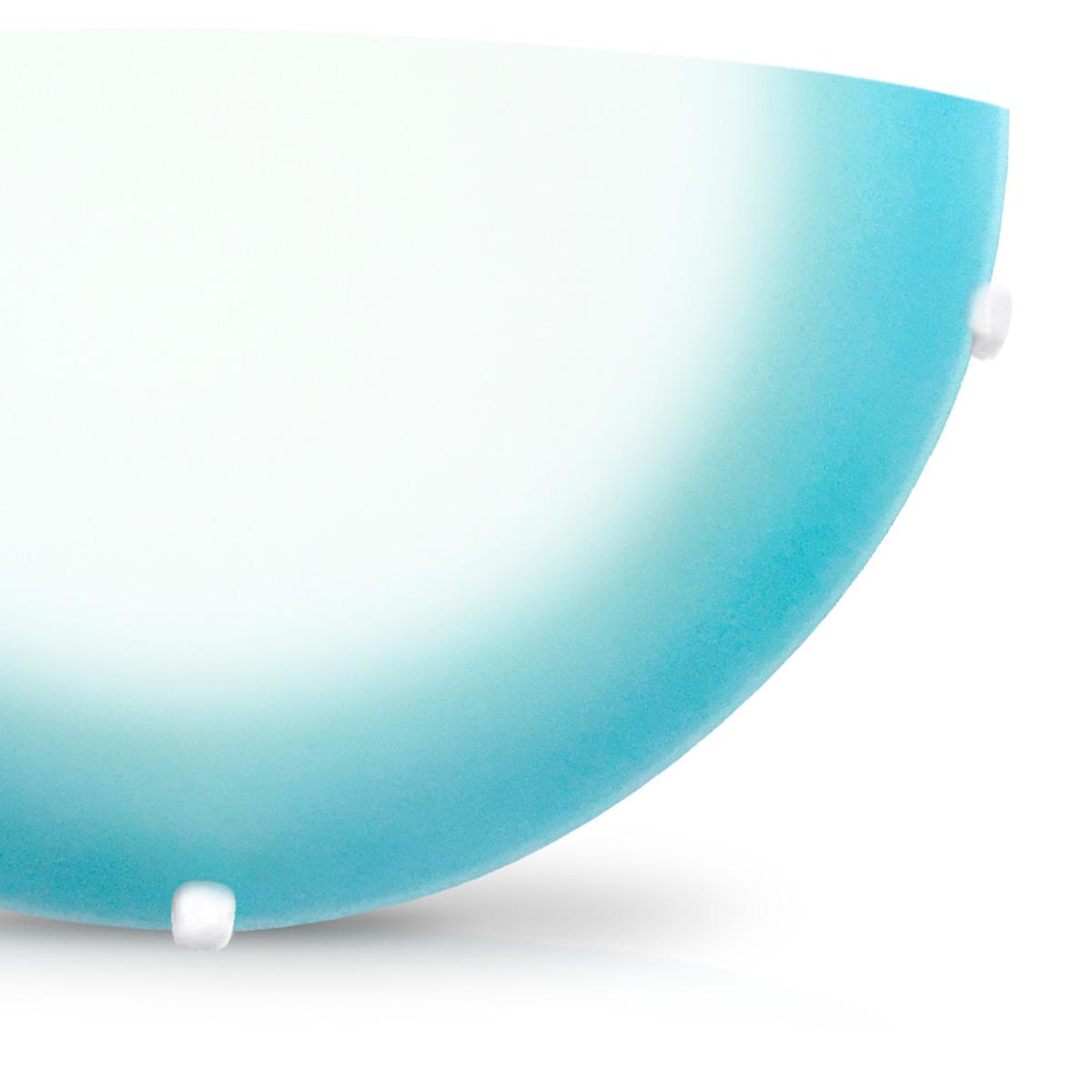 Arandela Pop 30cm 1 Lampada E-27 Max 60w Vidro Azul