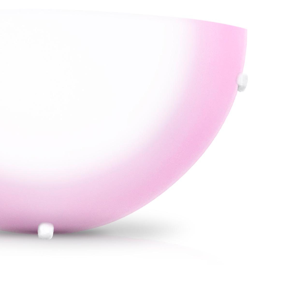 Arandela Pop 30cm 1 Lampada E-27 Max 60w Vidro Rosa