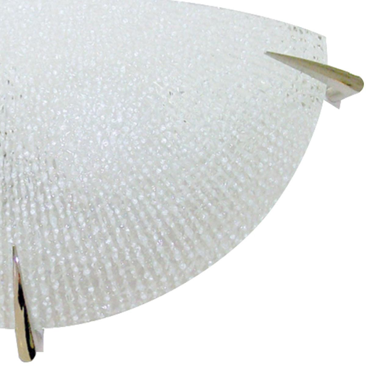 Arandela Prisma Vidro Craquelado 30cm 1 Lamp E-27 Max 60w