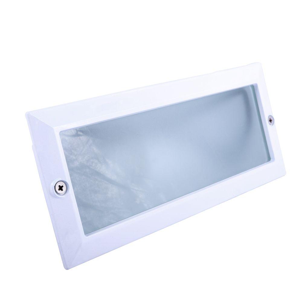 Balizador Ret. 23cm Aluminio Pint. Epoxi E-27 1 Lamp. Max 60w S/ Grade Branca