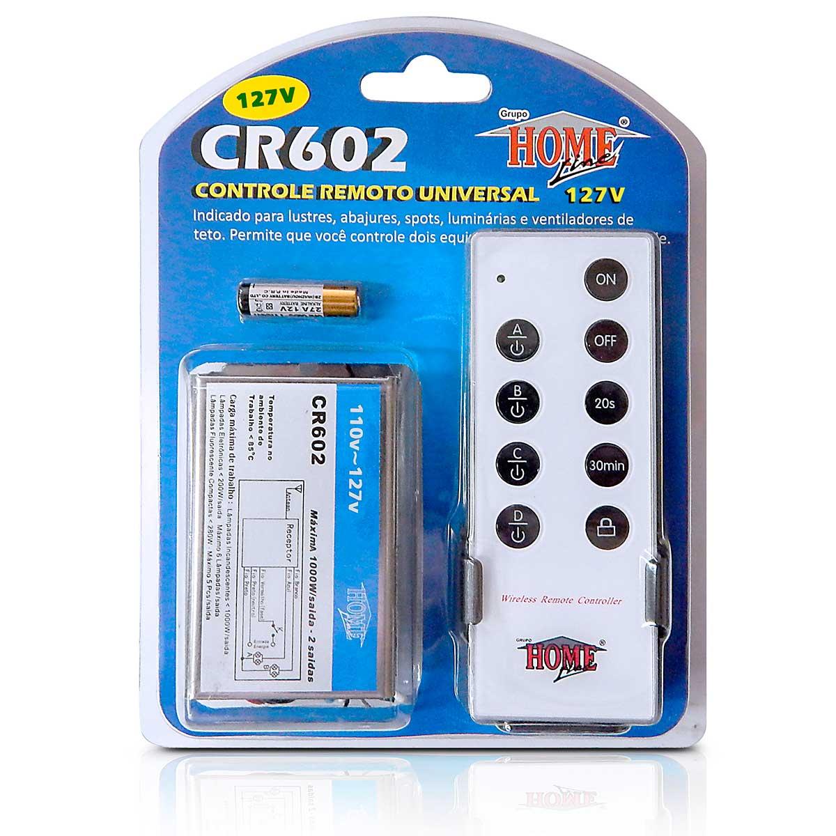 Controle Remoto Universal Home Line 2 Pontos 127v Ou 220v