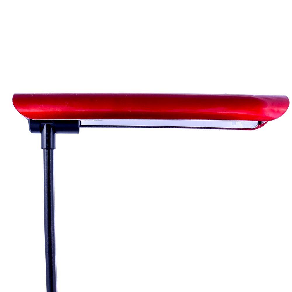 Luminária De Mesa Maximos Vermelho Com Relógio Ponteiro 1x13w 127v
