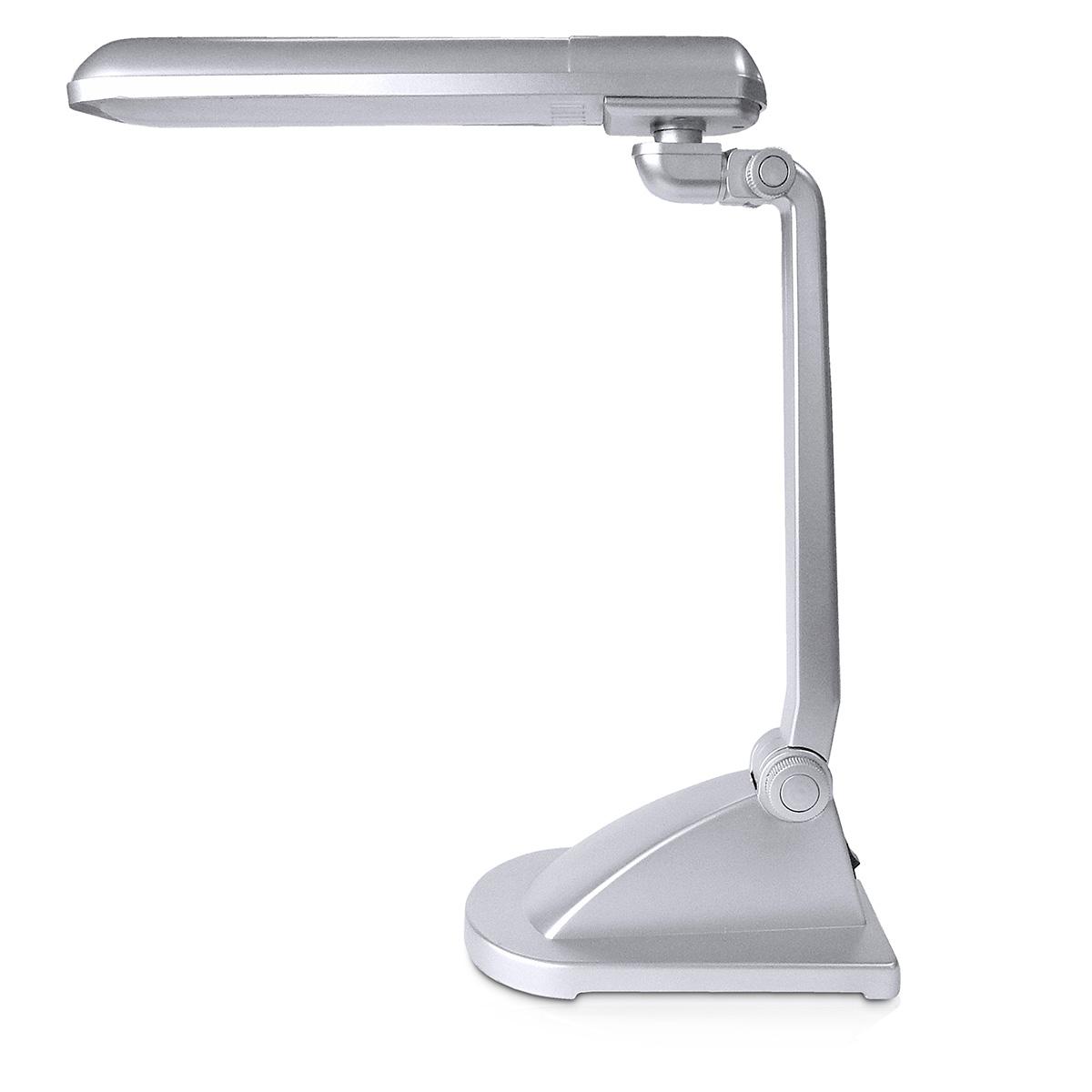 Luminaria De Mesa Premium Polietileno 1x11w 127v Cinza