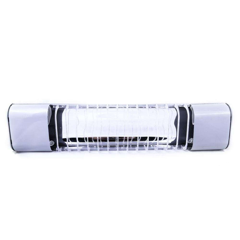 Luminária Mini Elite 47cm Com Aletas E-27 2 Lamp. Eletr. Titânio