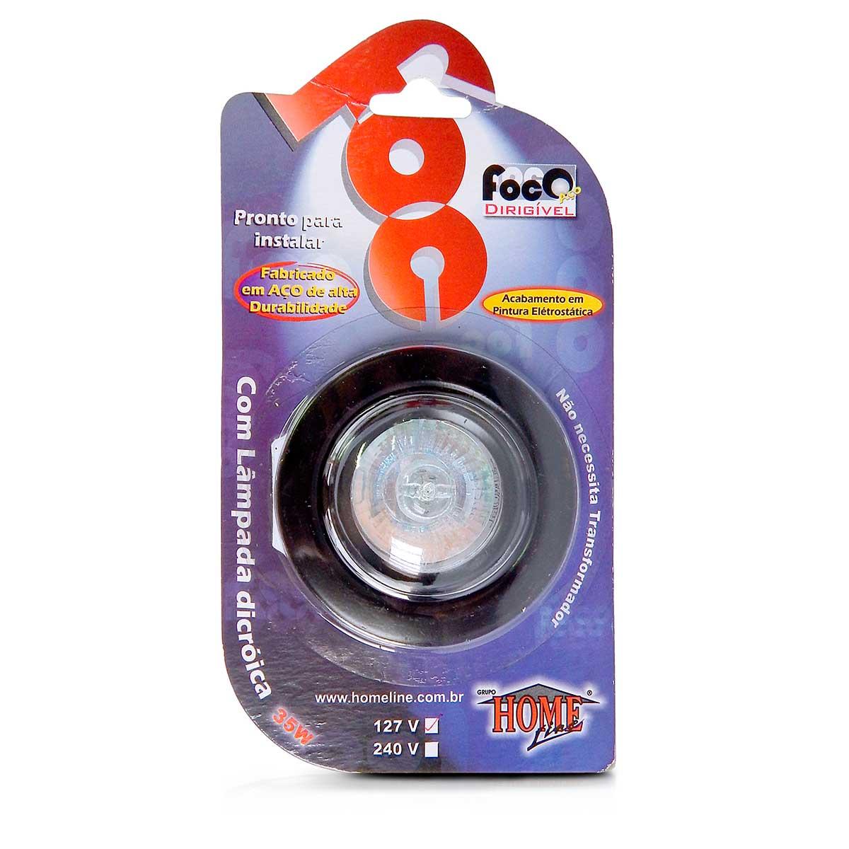 Mini Spot Dicroica Dirigivel Aco Mr11 (Com Lampada 35w)