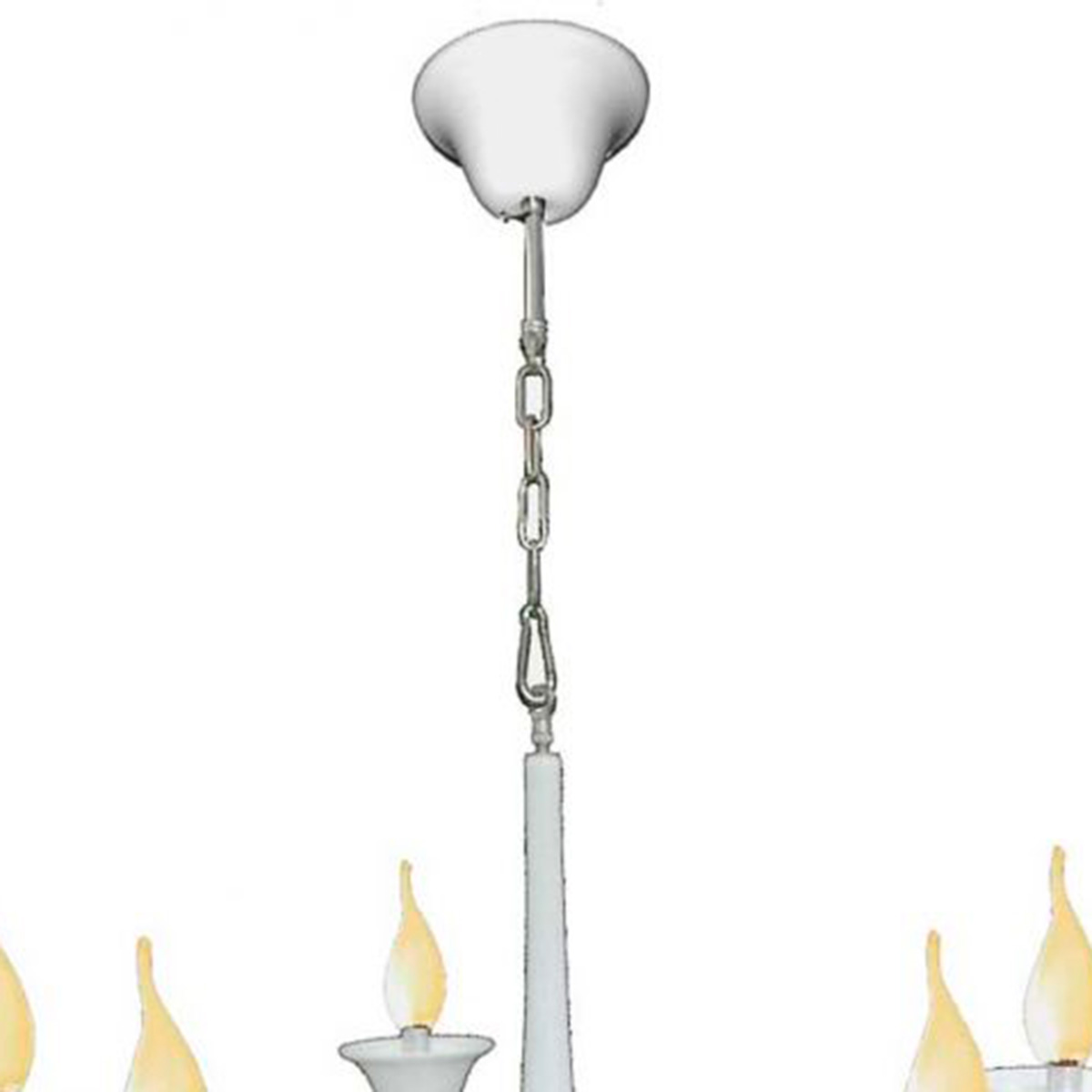 Pendente Cananeia Polietileno 86cm E-14 5 Lampadas Max 60w Branco