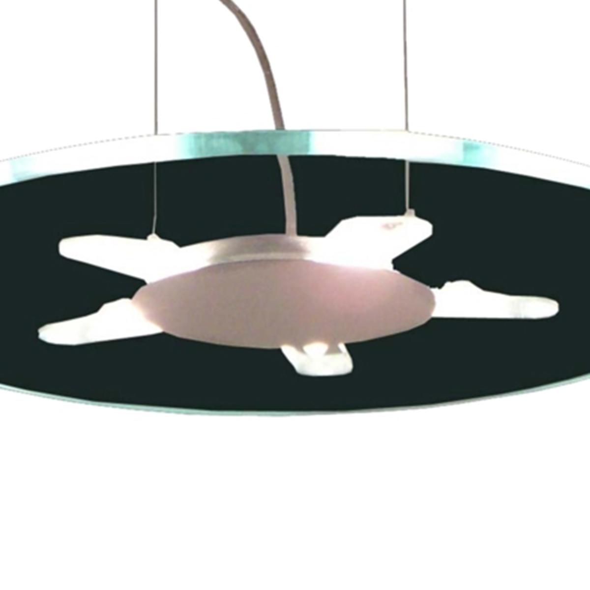 Pendente Flat Circular 43cm 5 Lamp. G-9