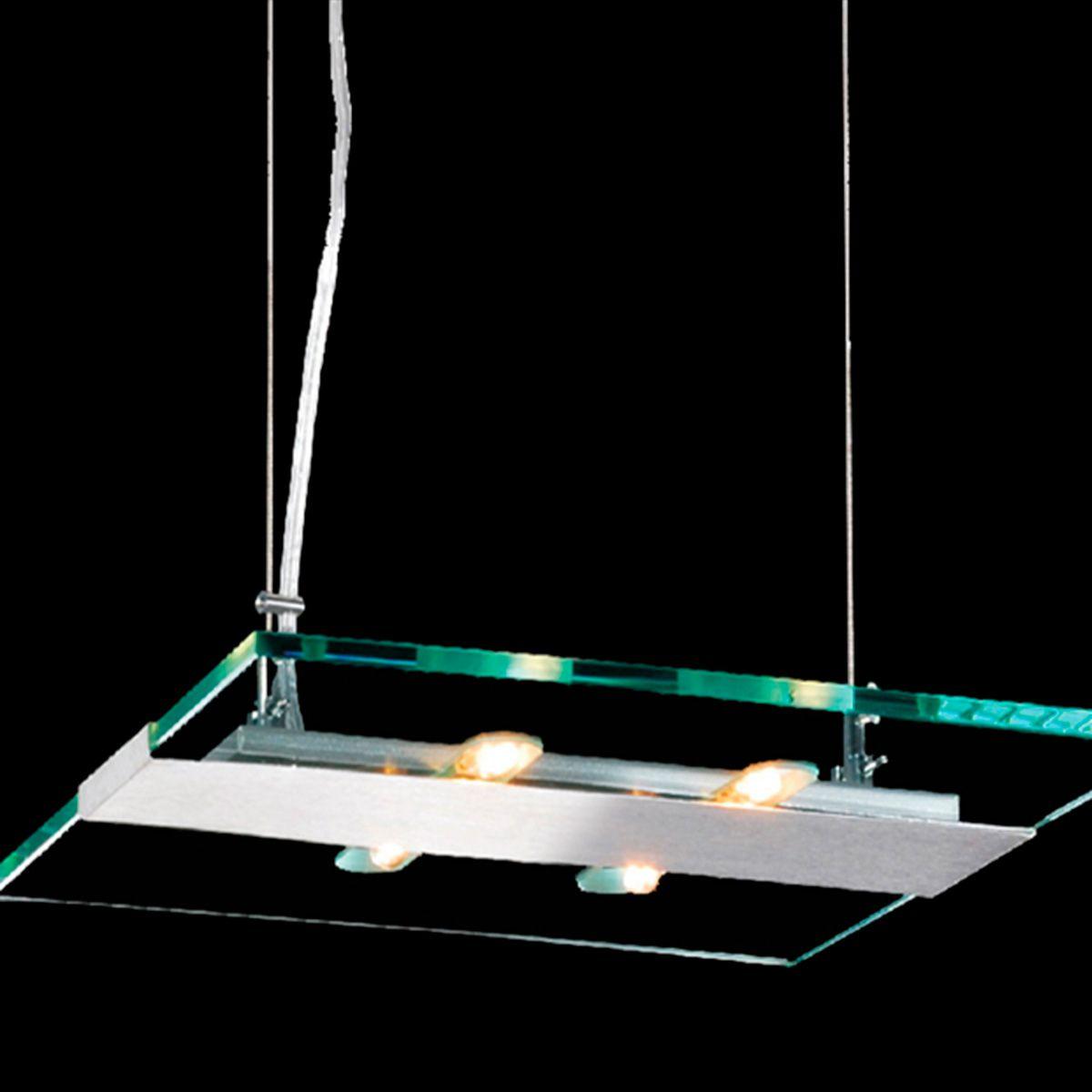 Pendente Flat Quadrado 35cm 4 Lamp. G-9