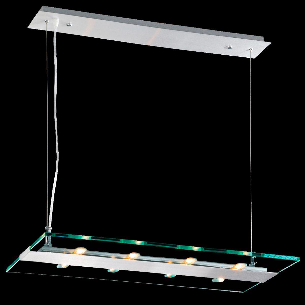 Pendente Flat Retangular 100cm 8 Lamp. G-9