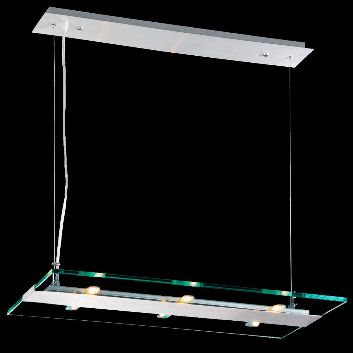 Pendente Flat Retangular 65cm 6 Lamp. G-9