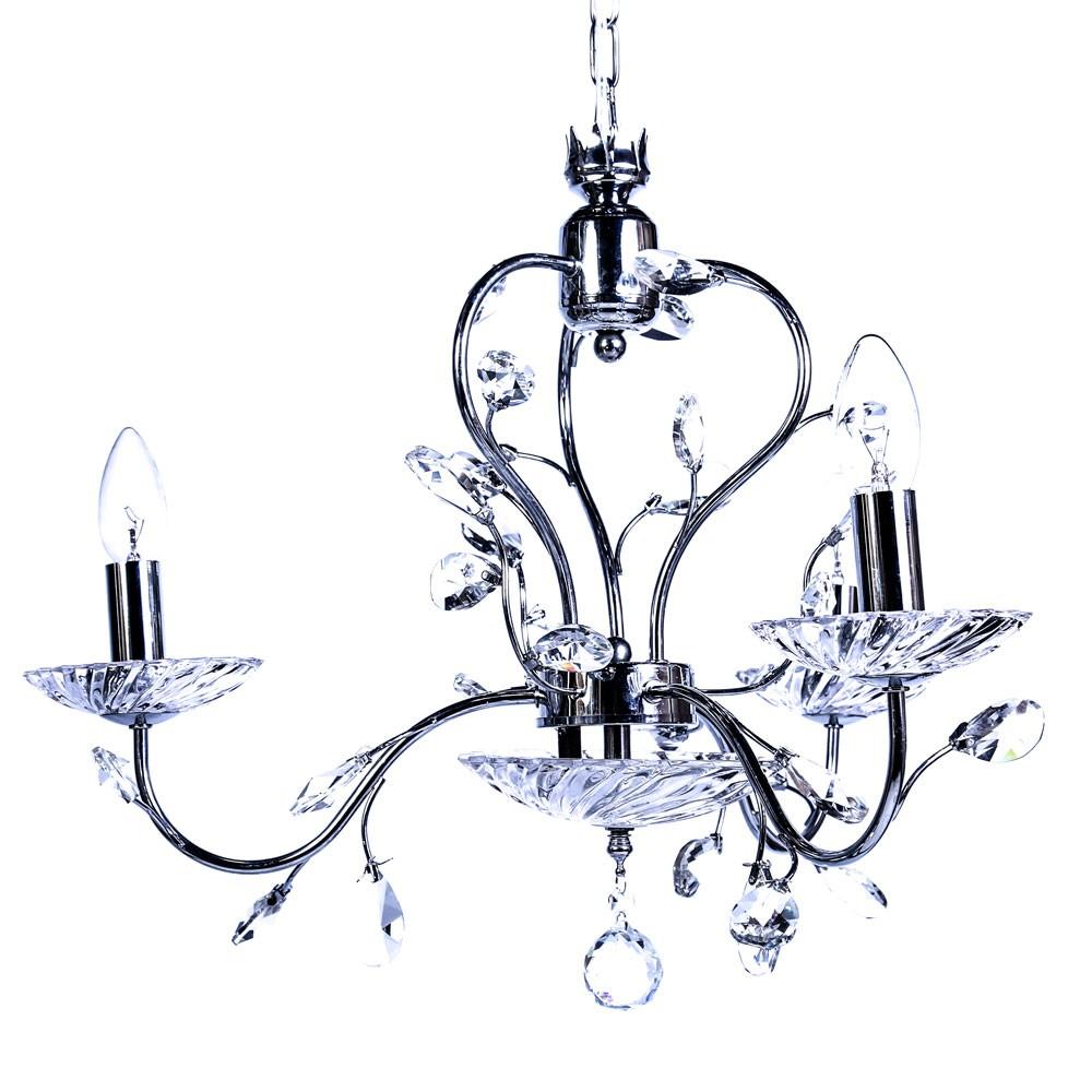 Pendente Floral Cristal 3lamp