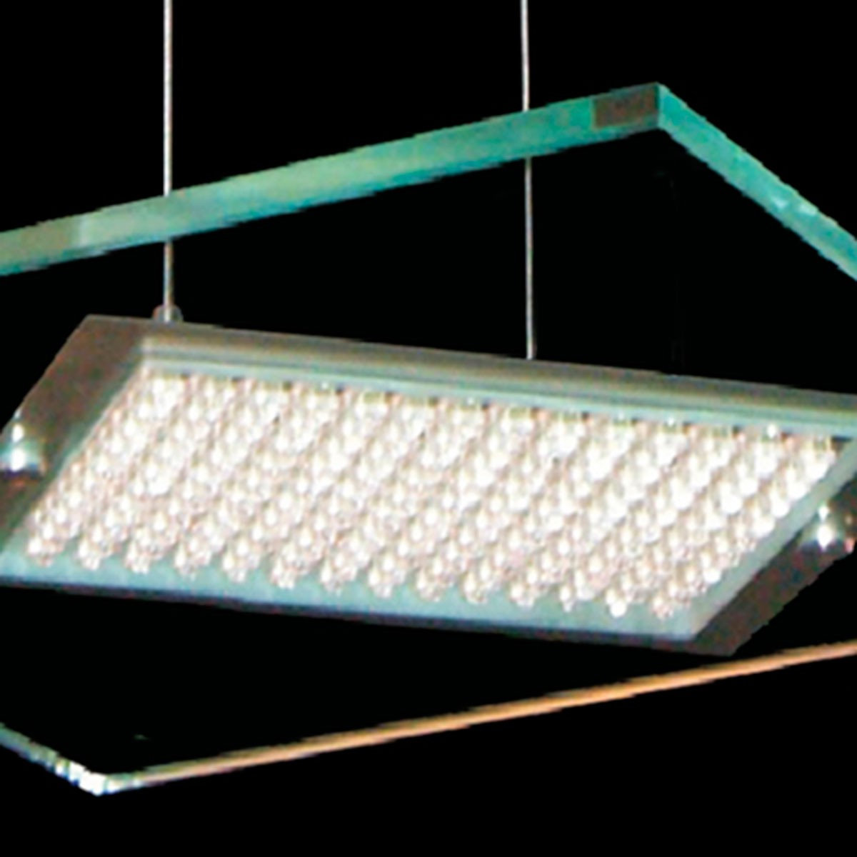 Pendente Led Quadrado 35cm 144 Leds