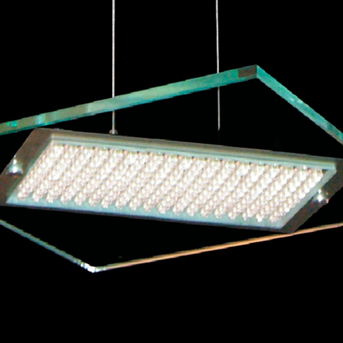 Pendente Led Quadrado 43cm 255 Leds