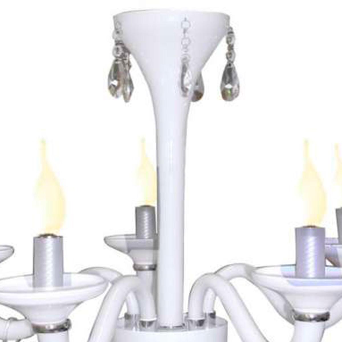 Pendente Merces Polietileno 62cm E-14 5 Lampadas Max 60w Branco