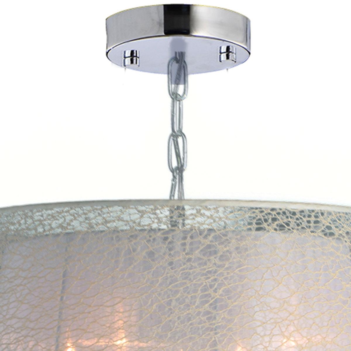 Pendente Montreal Circular 49x49x23cm Branco 4 Lamp E-14 Max. 60w