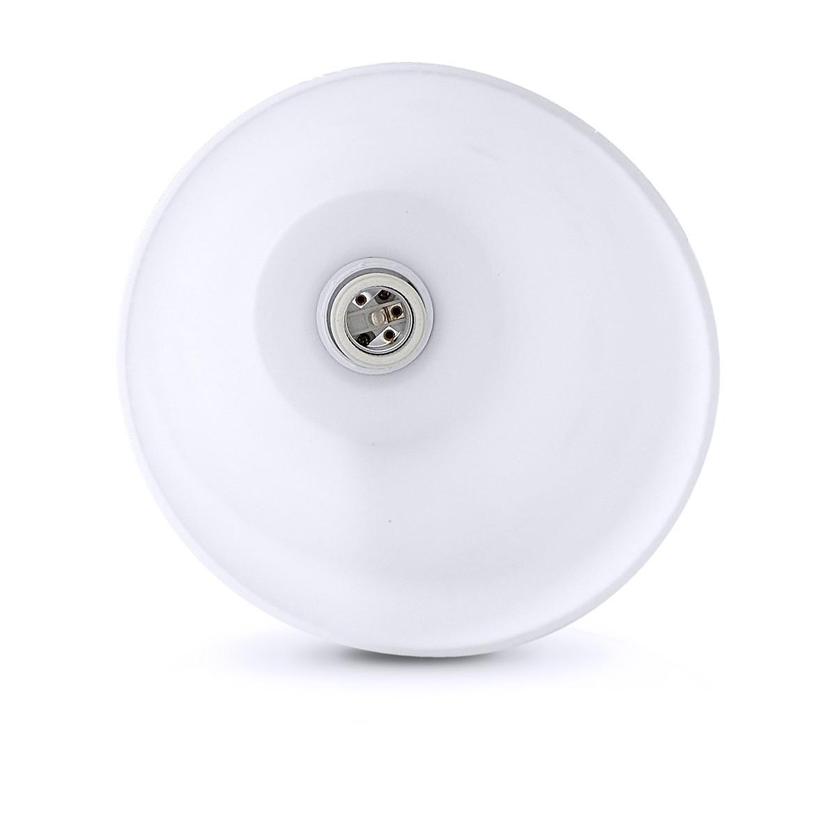 Pendente Polo Aluminio+Vidro Cilindrico Fosco E-27 1 Lamp. Max 60w Branco