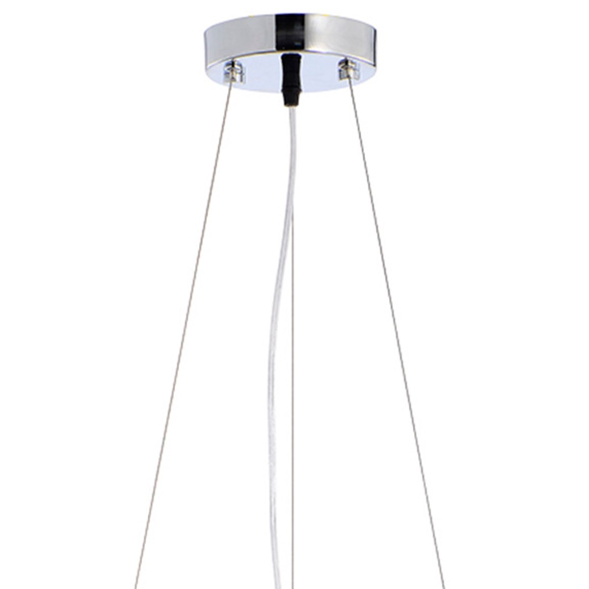 Pendente Rammer 40cm Circular E-27 4 Lamp. Max 60w Prata