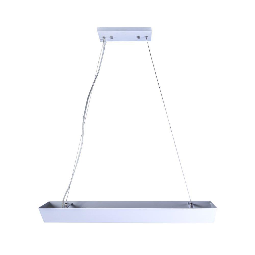 Pendente Space Triangular Aluminio E-27 2 Lamp. Max 60w Branco
