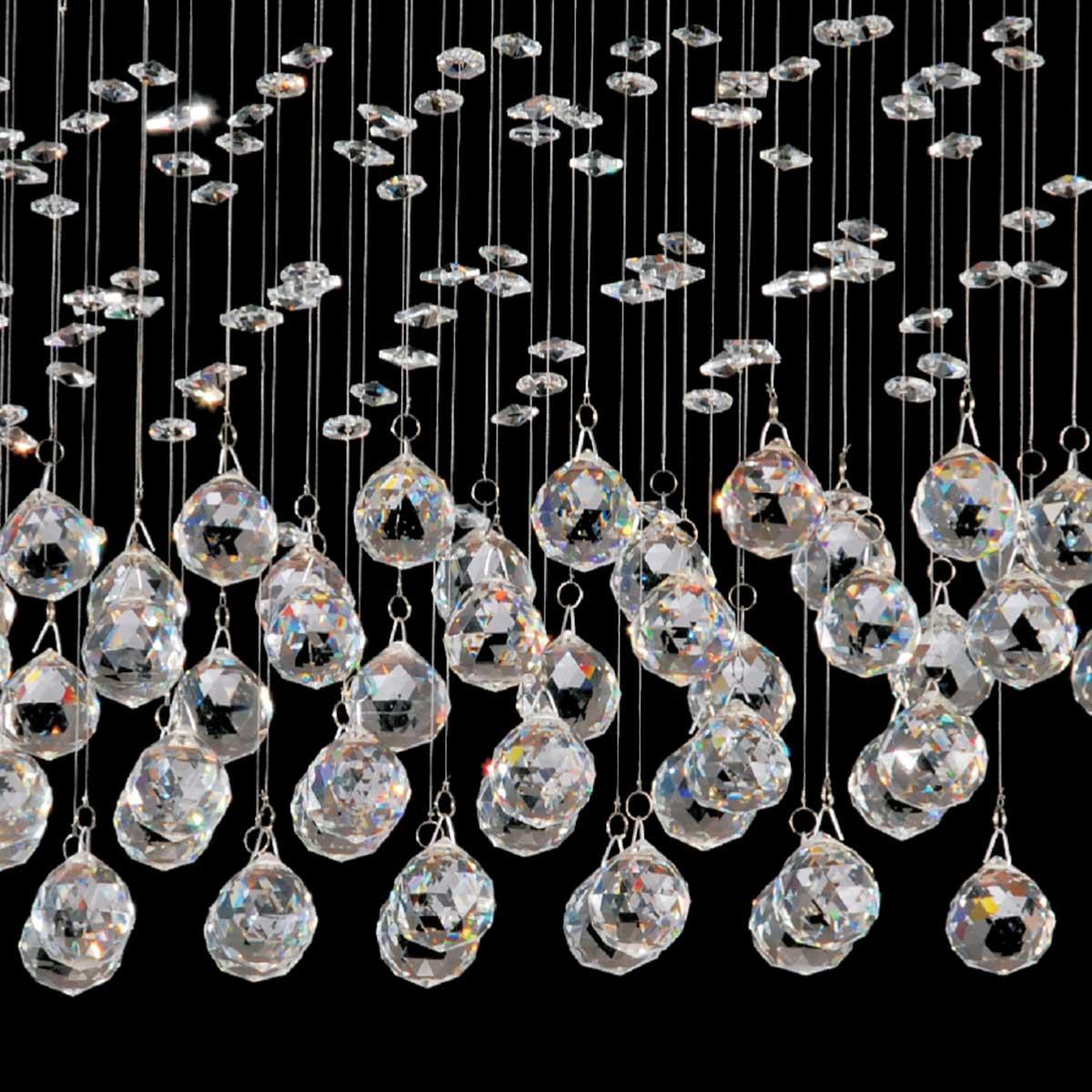 Pendente Star Cristal 59cm 4 Lamp. Gu10